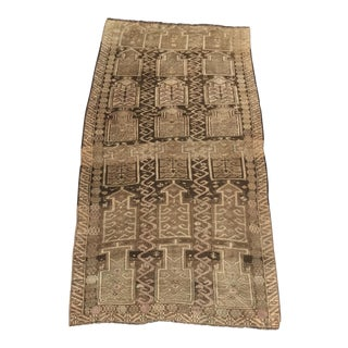 Antique Turkish Oushak Area Rug - 4′10″ × 9′3″