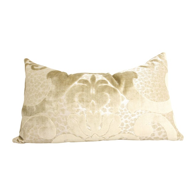 Image of Cut Velvet Damask Pillow