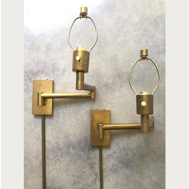 Chapman Brass Wall Sconces : Vintage 70s Chapman Modern Articulating Brass Wall Sconces - A Pair Chairish