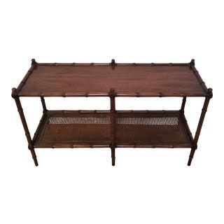 Vintage Faux Bamboo Sofa Table