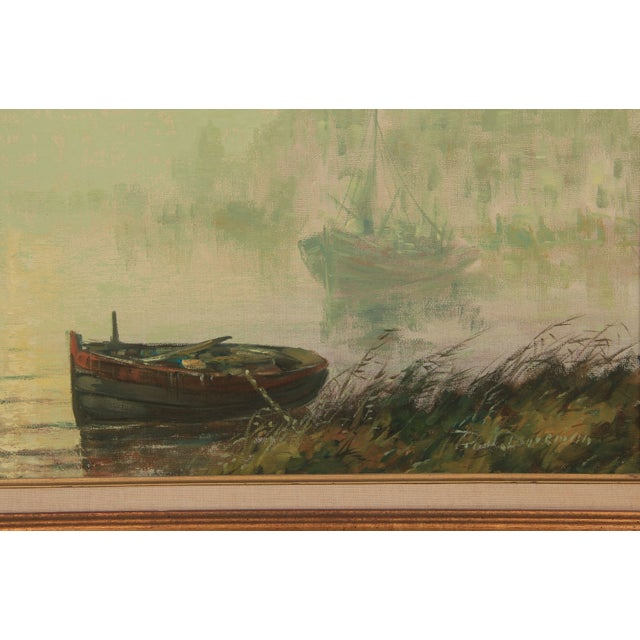 """Image of """"Anchored At Dawn"""" Oil On Canvas"""