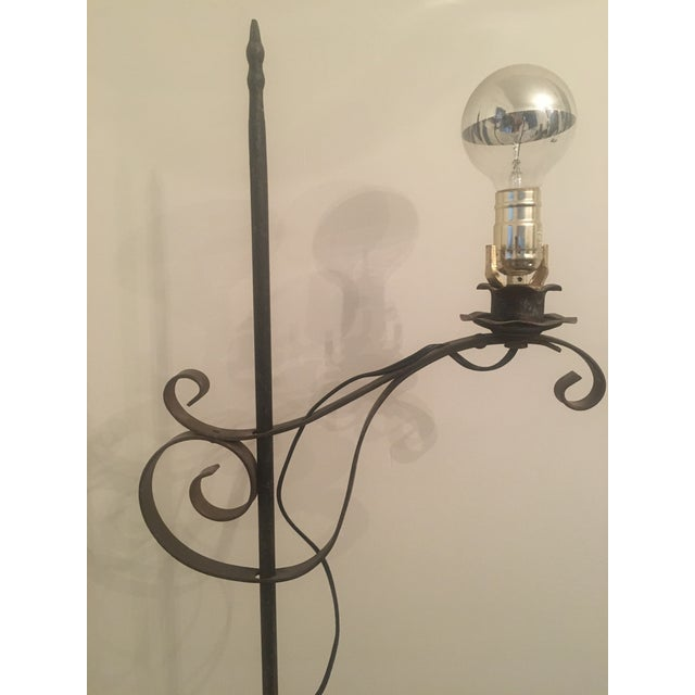 Vintage Iron Floor Lamp - Image 6 of 6