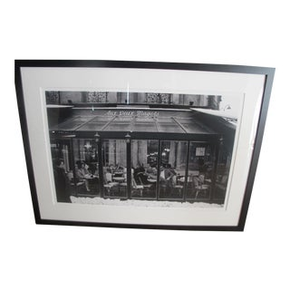 "Jon Rendell ""Deux Magots"" Paris Cafe Framed Photograph"