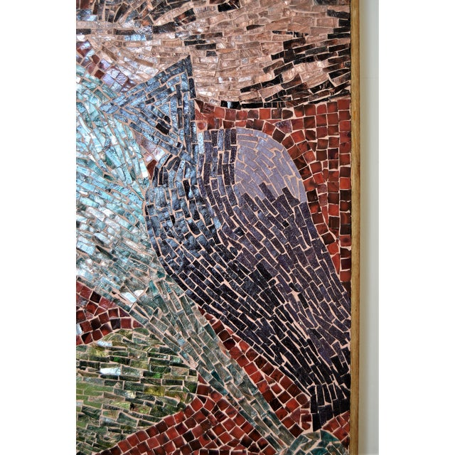 Cubist Glass Mosaic Wall Sculpture - Image 6 of 11