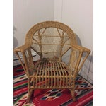 Image of Vintage Wicker Rattan Rocking Chair