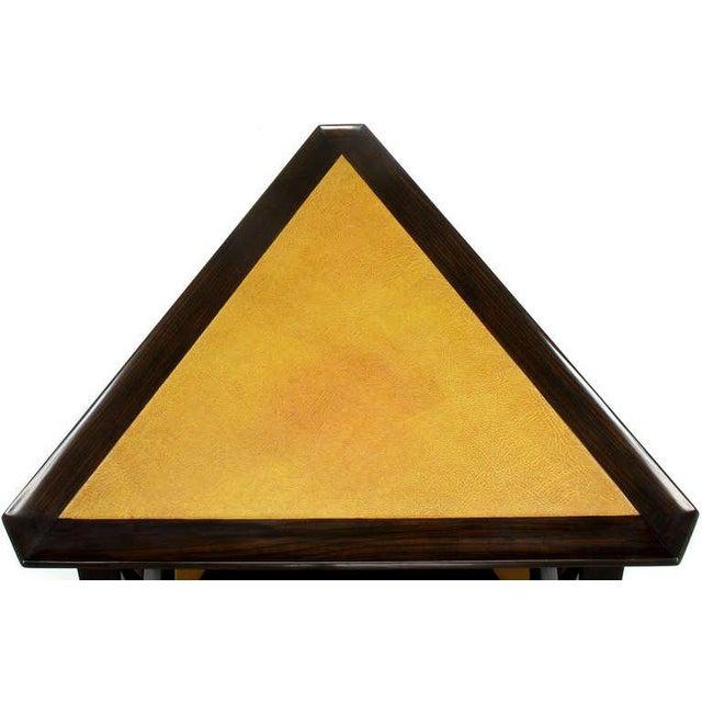 Rare Edward Wormley Dark Ash & Leather Magazine Table - Image 8 of 10