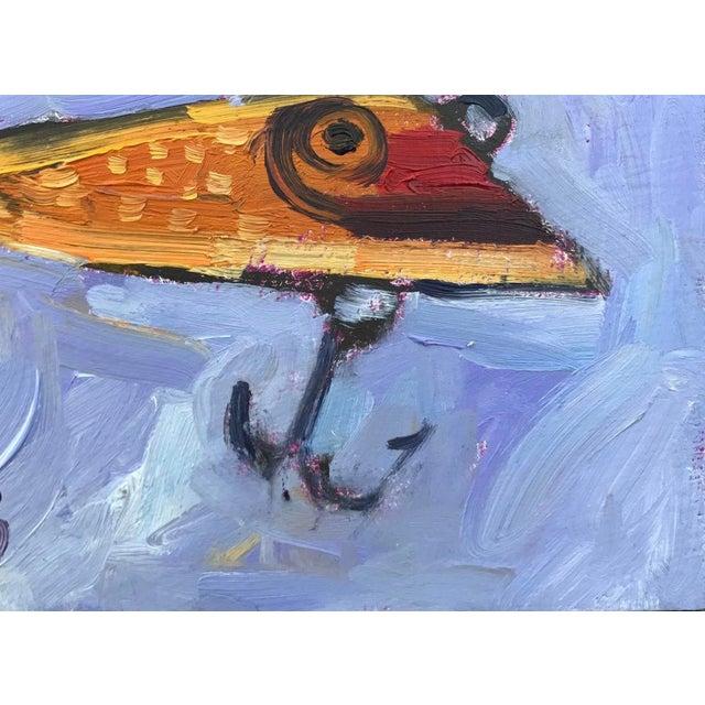 """Orange Fishing Lure"" Painting - Image 7 of 11"