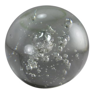 Mid-Century Murano Controlled Bubble Lead Glass Paperweight