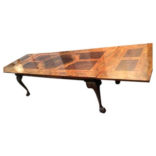 English George III Marquetry Extendable Dining Table