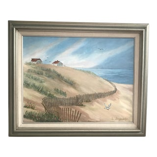 Vintage Painting of a Scene From Cape Cod