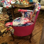 Image of Oly Silkscreened Armchairs - Pair