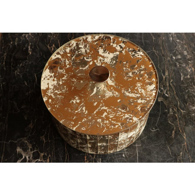 Marbled Golden Swirl Mirrored Box - Image 5 of 10