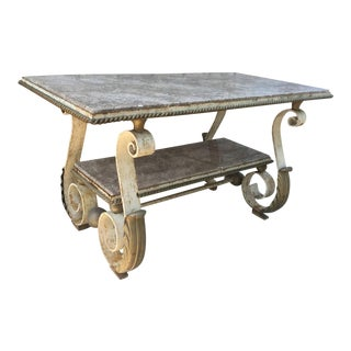 Scrolled Forged Iron Table after Gilbert Poillerat