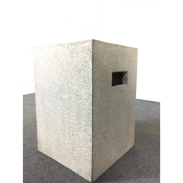 Contemporary Concrete Garden Stool - Image 2 of 7
