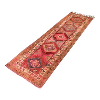 Vintage Hand Knotted Turkish Runner - 2′8″ × 9′4″