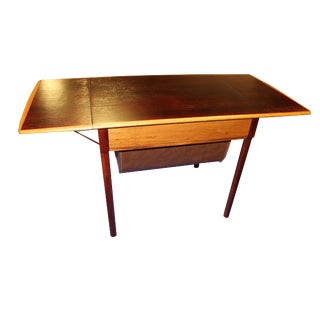 Mid-Century Rosewood Drop-Leaf Side Table