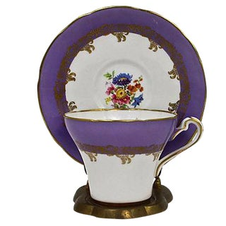 Royal Stafford Lilac Cup & Saucer - A Pair
