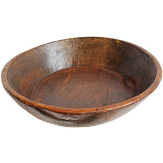 Large Teak Carved Bowl