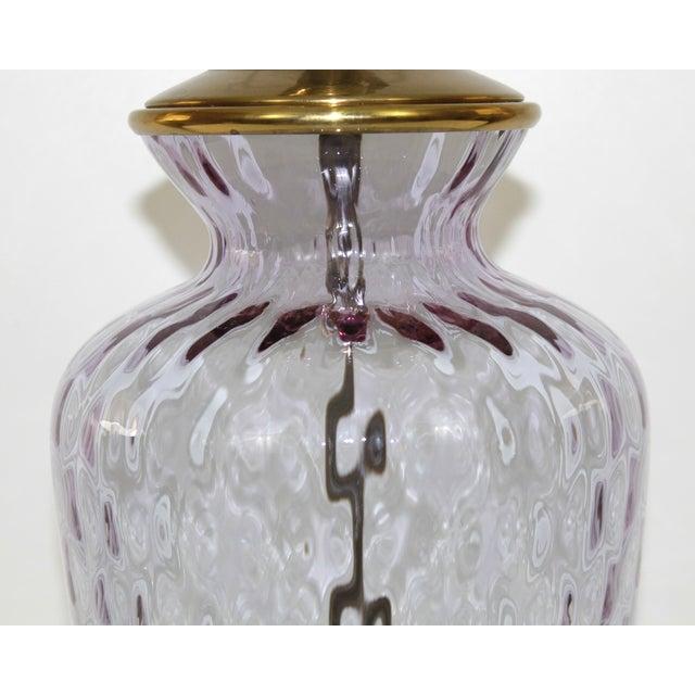 Hollywood Regency Glass Lamp - Image 2 of 8