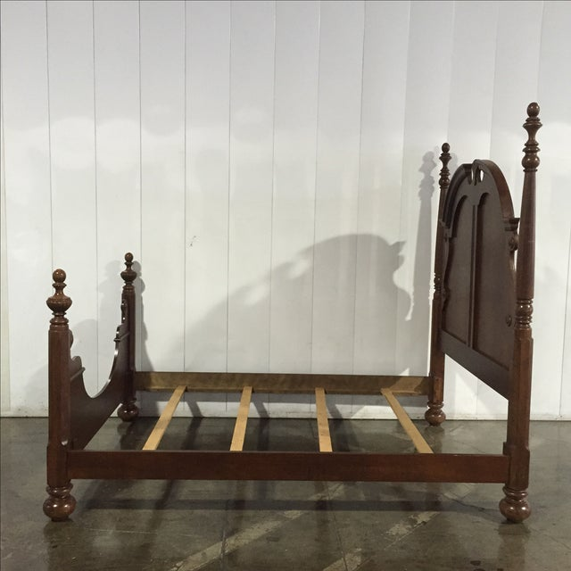 Queen Anne Solid Walnut Queen/Full Bed Frame - Image 6 of 8