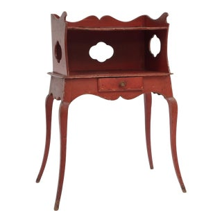 Red Painted Louis XV Style Side Table