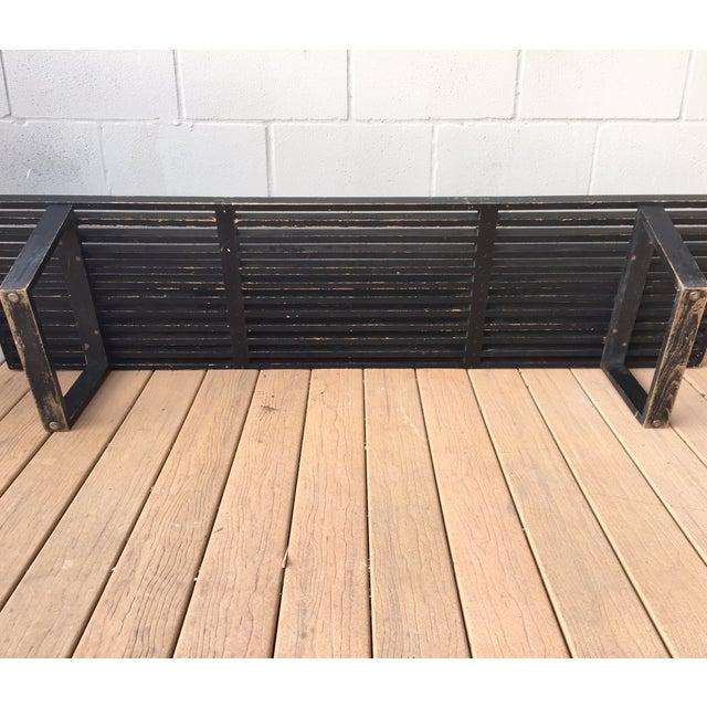 Image of George Nelson 6' Slat Bench in Ebony