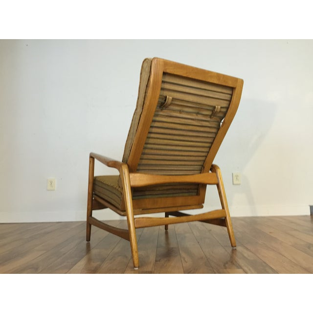 Mid-Century Adjustable High Back Lounge Chair - Image 4 of 11