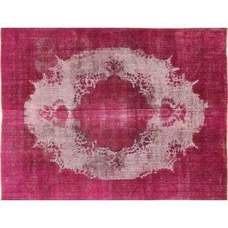 "Pink Overdyed Tabriz Wool Rug - 9'5"" x 12'1"""