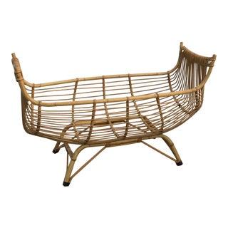 Vintage Bamboo Nautical Bassinet