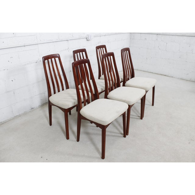 Danish Modern Dining Chair: Danish Modern Slat-Back Dining Chairs - Set Of 6