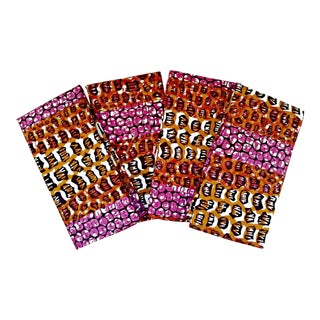 Animal Pattern African Print Fabric Napkins & Runner Set