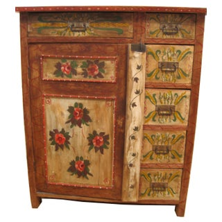 1880s Painted Pennsylvania Dutch Cabinet
