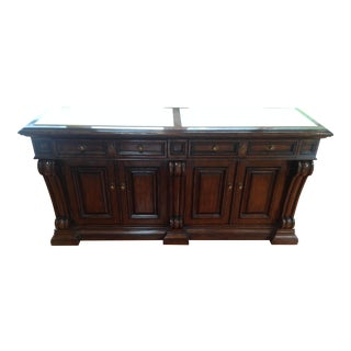 Marge Carson Marble Inlay Top Buffet