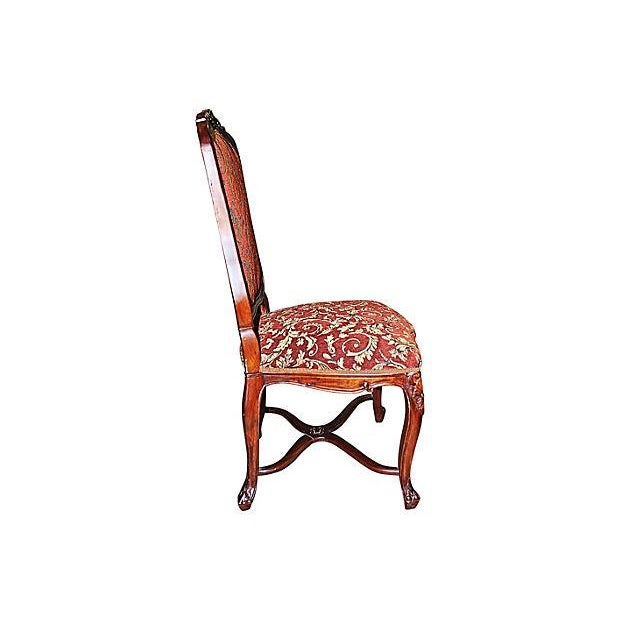 Louis XV-Style Mahogany Side Chairs - Set of 6 - Image 7 of 7