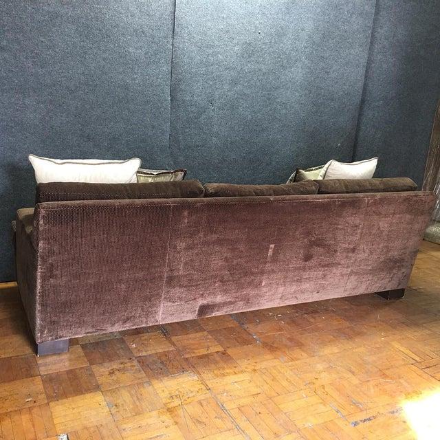 Crate barrel brown sofa throw pillows chairish - Throw pillows for brown sofa ...