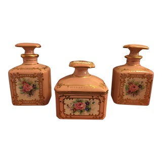 Limoges Hand Painted Porcelain Vanity Set