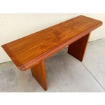 Image of Mid Century Teak Console Table