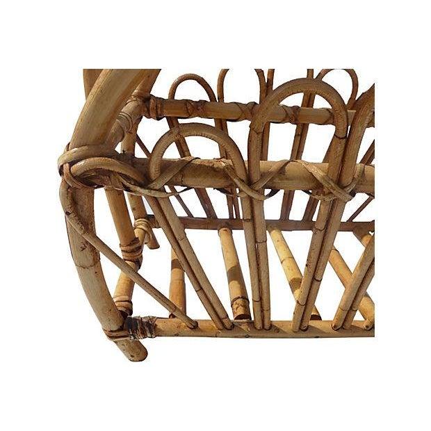 Image of Vintage Bamboo Magazine Rack