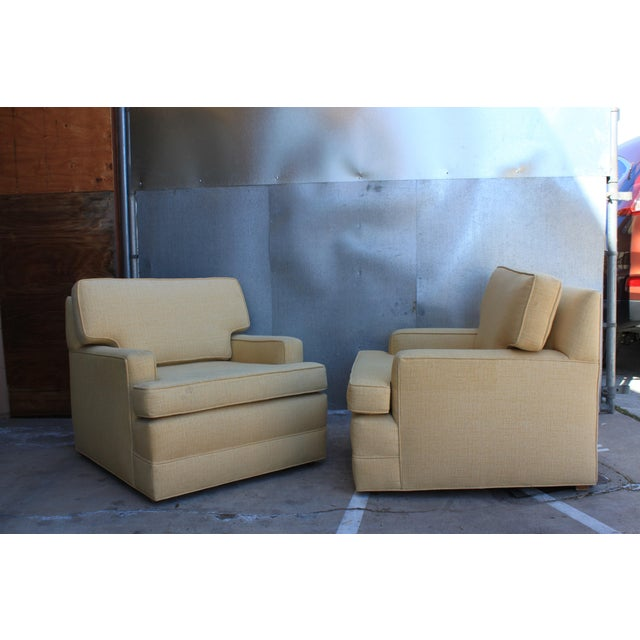 Mid-Century Tweed Chairs - A Pair - Image 2 of 6