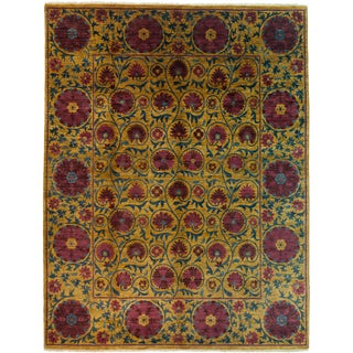 """Suzani Hand Knotted Area Rug - 8'3"""" X 10'8"""""""