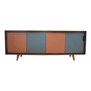 1950s Inspired Herringbone Cabinet