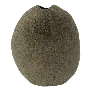 Solid Granite Rock Vase