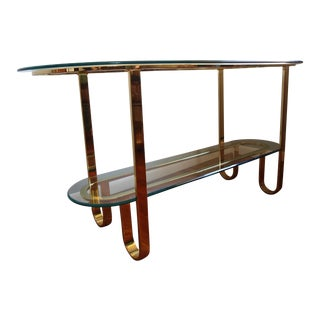 Design Institute of America Brass & Glass Console