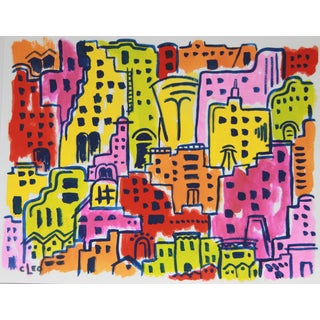 Funky Town Cityscape Landscape by Cleo