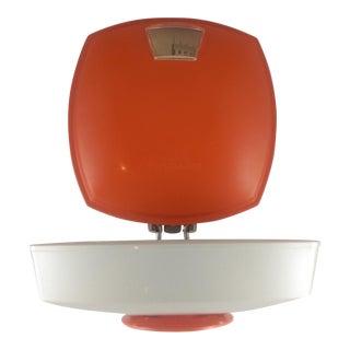 Vintage Soehnle Orange & White Kitchen Wall Scale