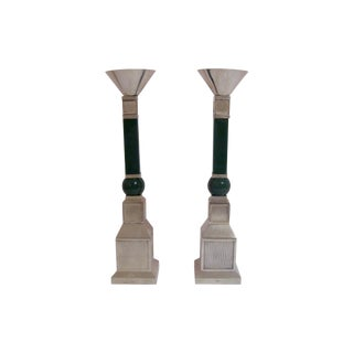 Gucci Mid-Century Silver Plate Candlesticks - Pair