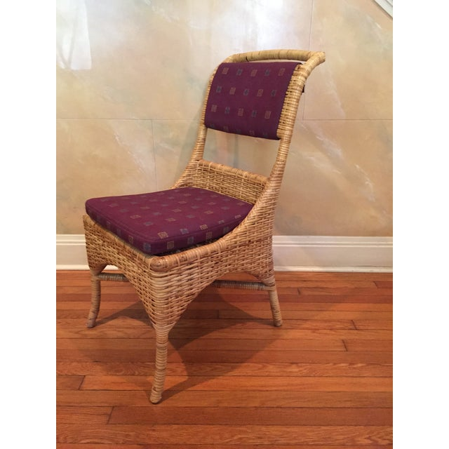 Vintage McGuire Caned Side Chair - Image 2 of 8