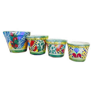 Talavera Ceramic Planter Pots - Set of 4