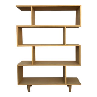 """Izabel"" Mid-Century Style Oak Shelf"