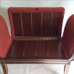 Image of Red Luggage Bench